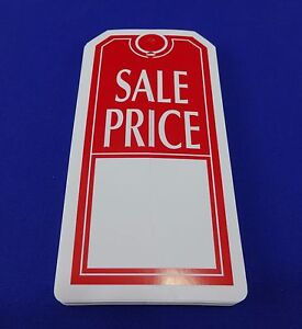 Sale Price Tags With Slit Merchandise Price Tags Red White New