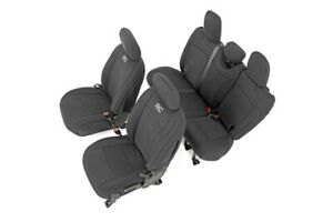 Rough Country Front Rear Neoprene Seat Covers Fits Jeep Jl Wrangler 4 Door 18 19