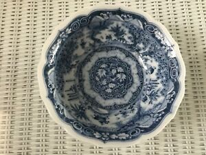 Beautiful Hand Painted Chinese Blue White Porcelain Bowl Depicts Daily Life