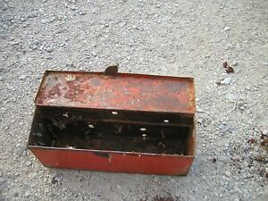 Allis Chalmers Wd Wd45 Tractor Original Ac Fender Mount Tool Box With Lid