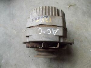 Allis Chalmers C Tractor Good Working 12v Alternator W Belt Pulley
