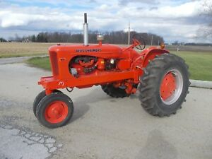 Allis Chalmers Wd Tractor 16 9 X 28 Tires Power Steering Runs Good Repainted