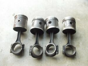 Allis Chalmers Wd Tractor Ac Engine Motor 4 Pistons W Rings Rods Rod Caps