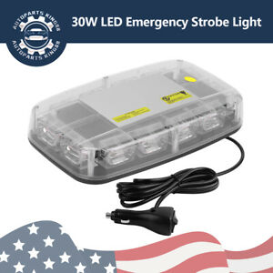 36 Led 30w White Amber Emergency Warning Flash Roof Top Led Strobe Light Bar