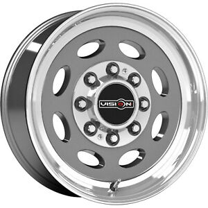 19 5x7 5 Gray Vision Hauler Single Wheels 8x170 0 Lifted Fits Ford