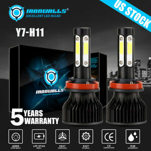 4 Sides Cree H8 H9 H11 2000w 300000lm Led Headlight Bulbs Conversion Kit 6000k