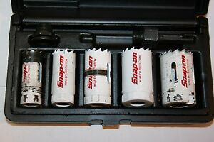 Snap on Tools 7 piece Hole Saw And Arbor Kit 3 4 1 1 4 Lhs606d
