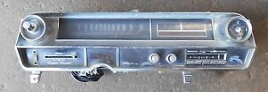 1964 Cadillac Convertible Dash Cluster Heater Controls Radio Clock Speedometer