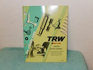 Original Trw Tread Saver Chassis Service Manual The Reliable Ones