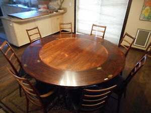 Rosewood Dining Table Set W 8 Koefoed Hornslet Lis Chairs Danish Modern Denmark