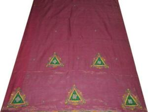 Vintage Sari Pure Cotton Silk Saree Zari Zardozi Dabka Fabric Beaded Craft Woven