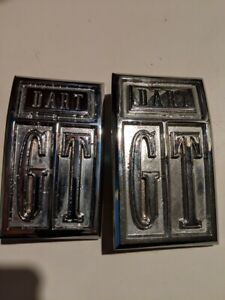 1967 Dodge Dart Gt Fender Emblem Oem Re chromed Pair