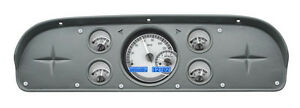 Dakota Digital 57 60 Ford Pickup Analog Gauge System Silver Blue Vhx 57f pu s b