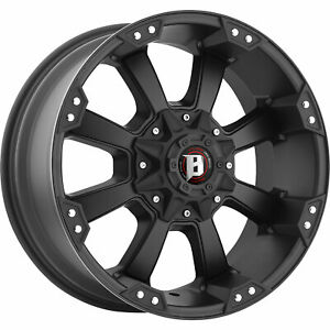 20x9 Black Wheel Ballistic Morax 845 8x180