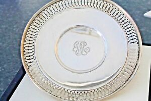 Sterling Silver Serving Plate Candy Fruit Bowl Monogrammed By Wright Kay