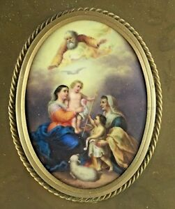 Kpm Painted Porcelain Plaque Of The Holy Family Bartolome Esteban Murillo