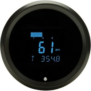 Dakota Digital 3 3 8 Round Performance Speedometer Gauge Black Blue Slx 01 1 k