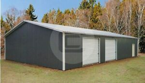 40 60 Clear Span Commercial Garage free Delivery Installation