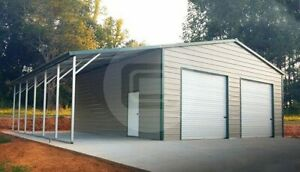 38 25 Metal Shop With Lean to free Delivery Installation