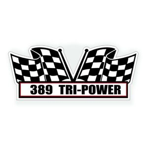 389 Tri Power Air Cleaner Decal Fits Pontiac Six Pack Engine Classic Muscle Car