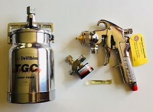 Devilbiss Gti 600s 100 Suction Pressure Feed Spray Gun Cup Regulator New