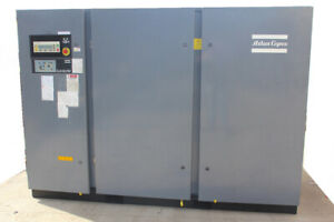Atlas Copco 200hp Rotary Screw Air Compressor Ga160w 18 000 Hrs 997 Cfm