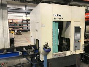 Used Brother Tc 32b Ft 2008 Cnc Vertical Mill Vmc 16000rpm Probes