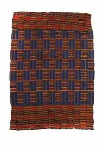 Kente Handwoven Cloth Asante Ghana Big African Art