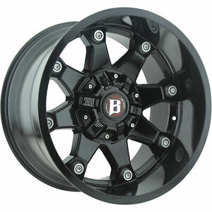 20x10 Black Ballistic Beast 581 Wheels 8x170 8x180 24 Lifted Fits Chevrole