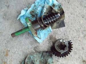 Oliver 66 Tractor Front Pedestal Steering Worm Gear Matching Sector Gear Set