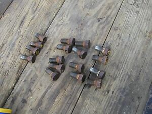 Oliver 70 Rowcrop Tractor 17 Original Rear Mounting Stud Bolts Rim To Hub