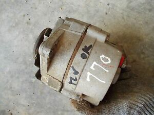 Oliver 770 Tractor Good Working 12v Alternator With Belt Pulley