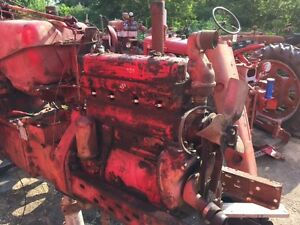 Farmall Ih 450 Tractor C281 Complete Running Engine Motor Head Pistons Governor