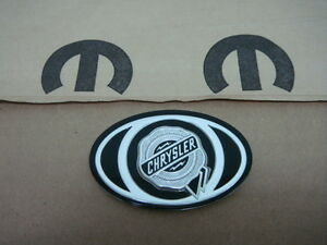 Chrysler 300 2005 2010 Front Grill Grille Medallion Emblem Logo Black New