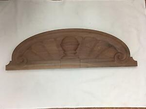 Beautiful Classic Style Carved Walnut Pediment Over A Doorway Window Armoire