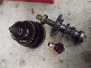 Farmall B Tractor Ih Transmission Matched Set Top Bottom Gears Shafts Reverse