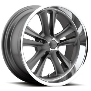 Staggered Foose F099 Knuckle 17x7 17x8 5x4 75 1mm Textured Gray Wheels Rims
