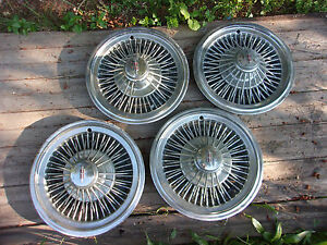 1970 S Olds Wire Spoke Hub Caps 14 Set Of 4 Stainless Hc842