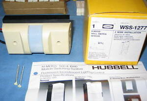 Hubbell Wss1277 Wss 1277 Beige Wall Switch Motion Switching Sensor Nos