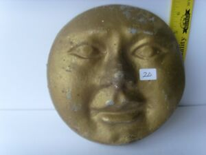 Antique Pottery Man In The Moon Face Wall Decorative Plaque 1870 1900 48 20