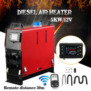 5kw 12v Diesel Air Heater All In 1 Lcd Monitor For Truck Motorhome Boat Trailer