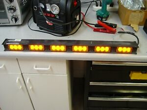 Code3 30 5 Led Light Bar Amber Narrowstick Lightbar 6 Light Heads