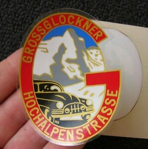 Grossglockner Inside Window Decal Sticker Vw Oval Mercedes Vintage Car Nos