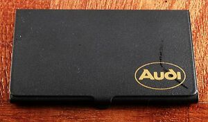 Rare audi Black Business credit Card Holder Case Calculator New Old Stock