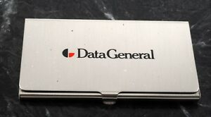 Rare data General Computer Silver Tone Business Card Holder Case New Old Stock