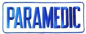 Paramedic Embroidered Patch White Royal 4 X 11 Jacket Back Emblem Sew On New