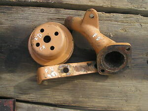 Ford 981 Diesel Tractor Original Water Pump Tube Front Pulley And Bracket