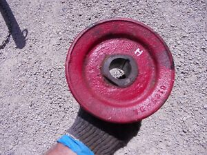Farmall H Hv Early Sh Tractor Original I H Engine Motor Crank Shaft Main Pulley
