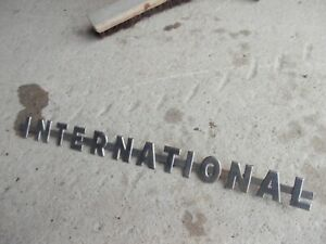 International 350 300 Utility Ihc Tractor Original Chrome Hood Emblem Hard Find