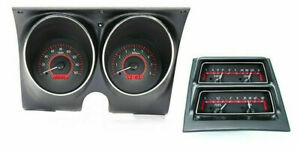 1968 Camaro Gauges Tach Console Gauges Dakota Digital Vhx Firebird Carbon Red